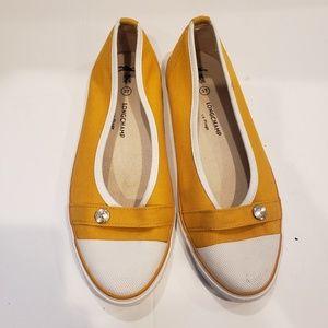 Longchamp mustard ballet flats size 37